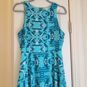 Everly blue skater dress